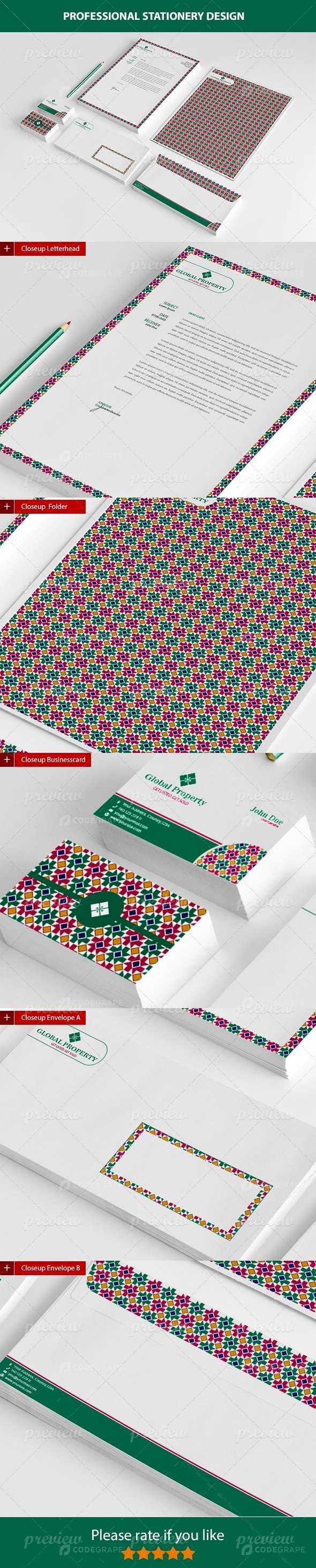 Global Property Stationery Template