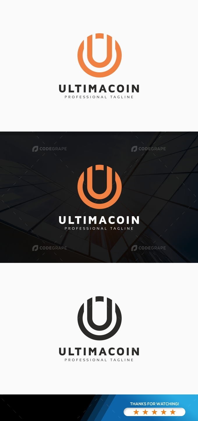 Ultimacoin U Letter Logo