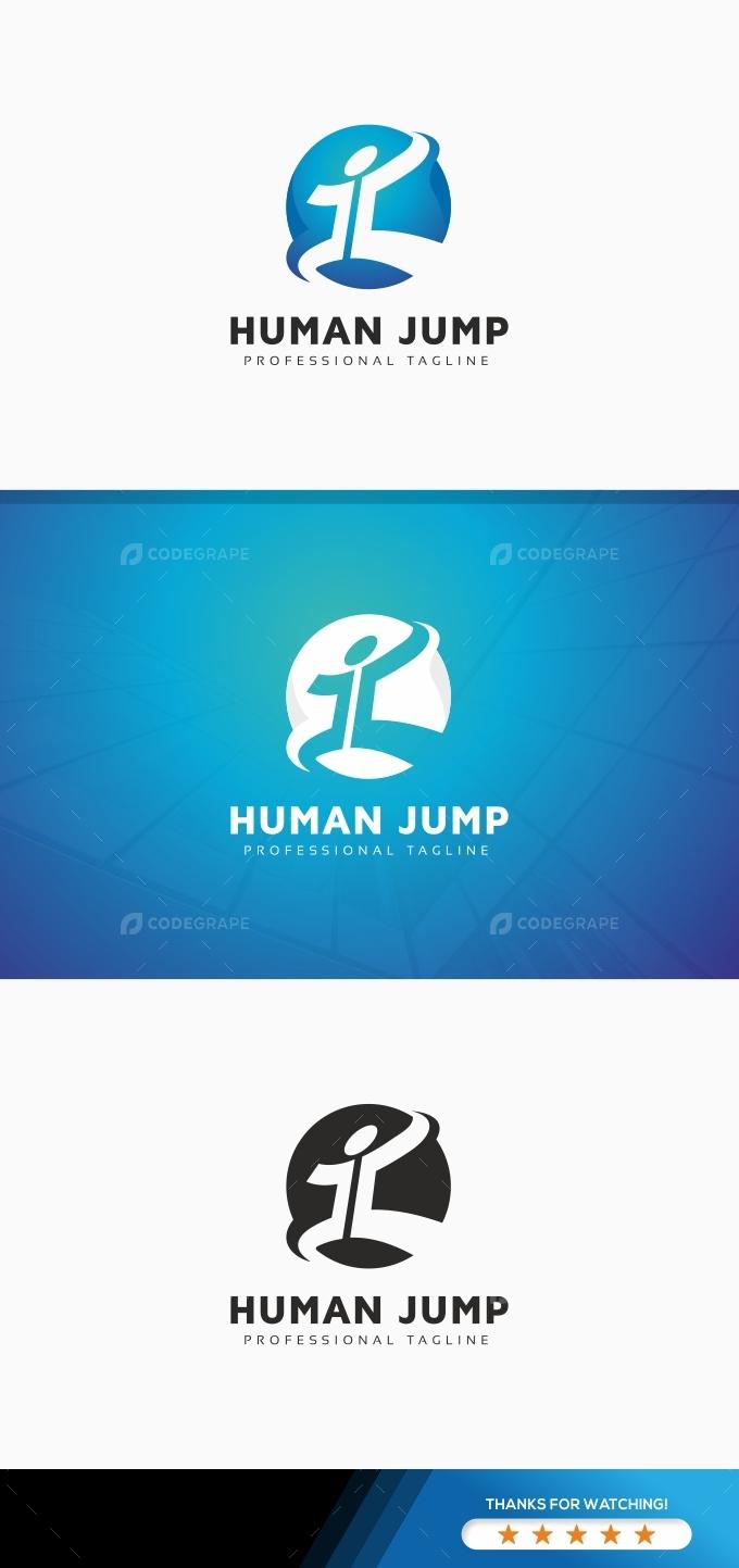 Human Jump Logo