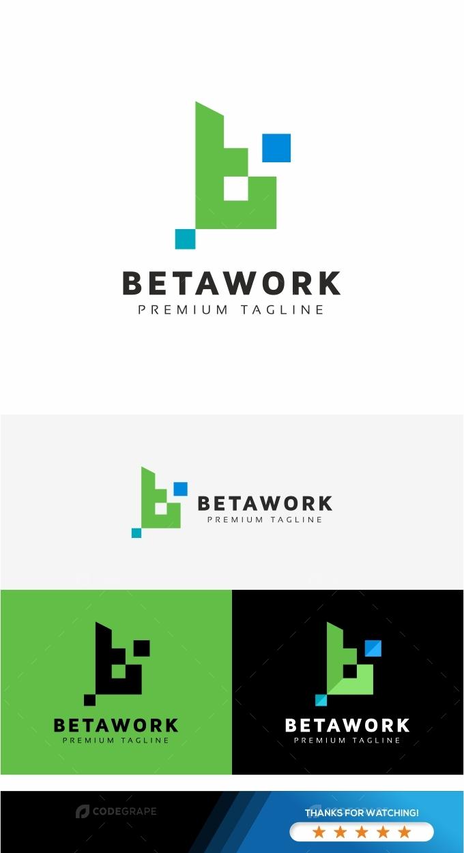 Betawork B Letter Logo