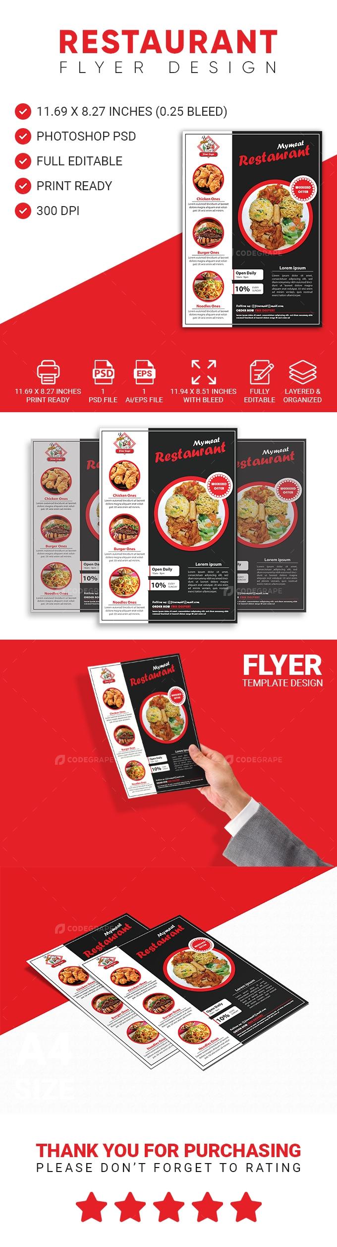Restaurant Flyer / Menu Template