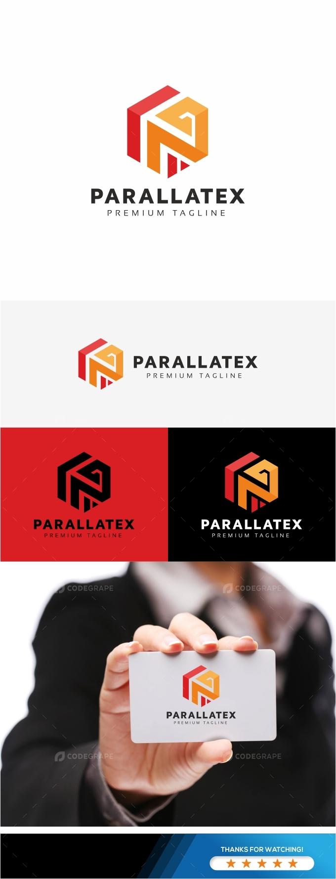 P Letter Hexagon Logo