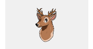 Deer Cute Logo