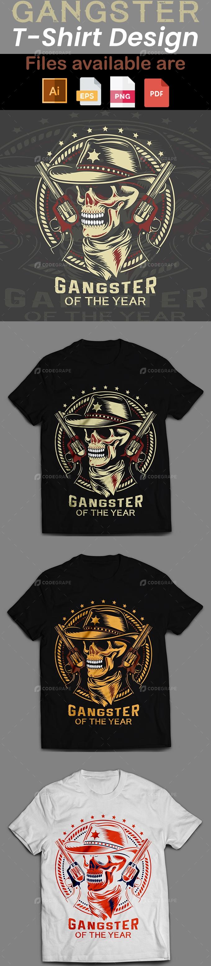 Gangster T-Shirt Design.