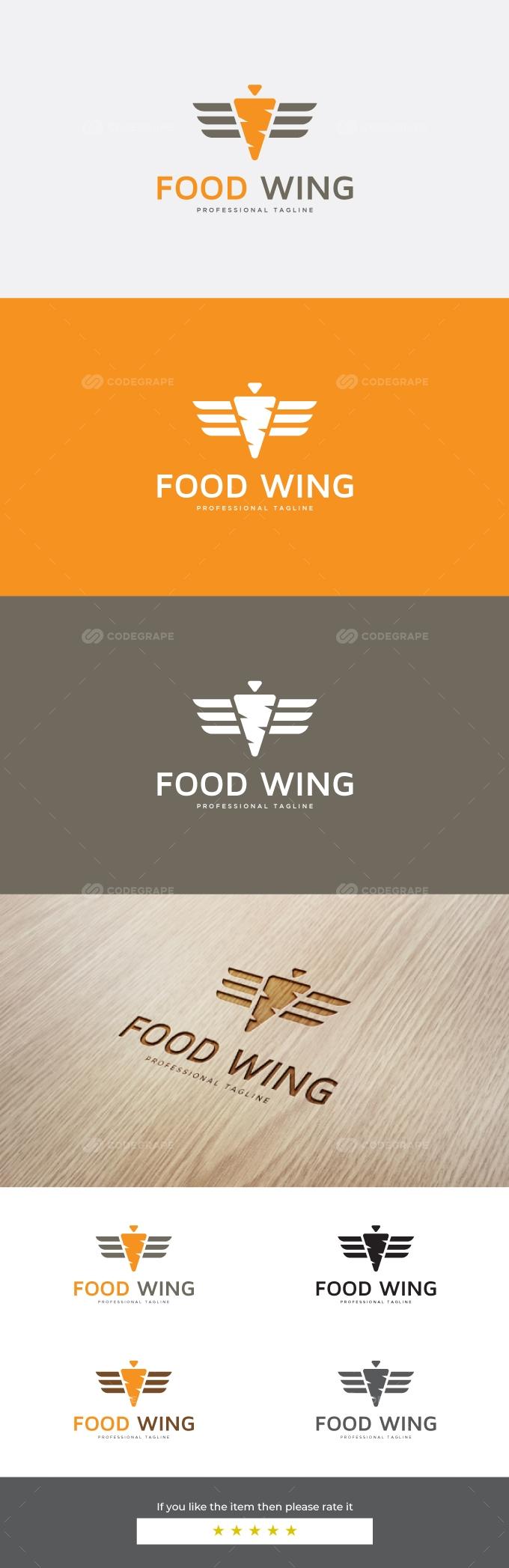 Food Wing Logo