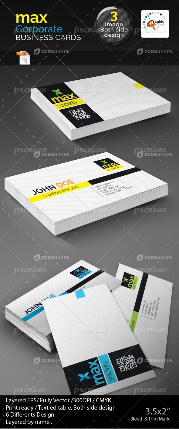 Max Society Business Cards