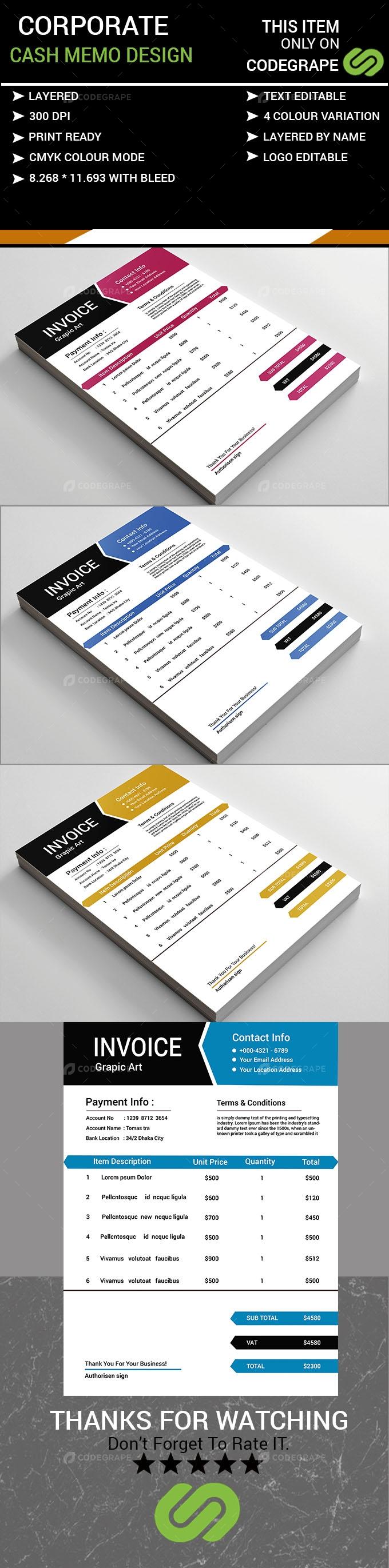 Corporate Cash Memo Design