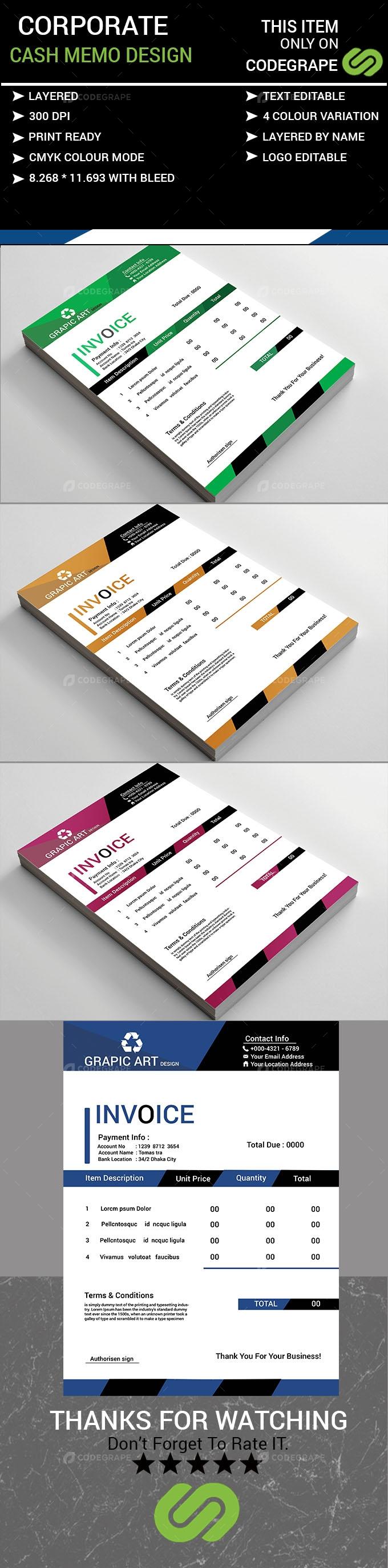 Cash Memo Design