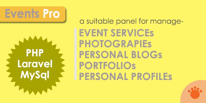 Events Pro - Laravel App