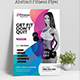 Abstract Fitness Flyer