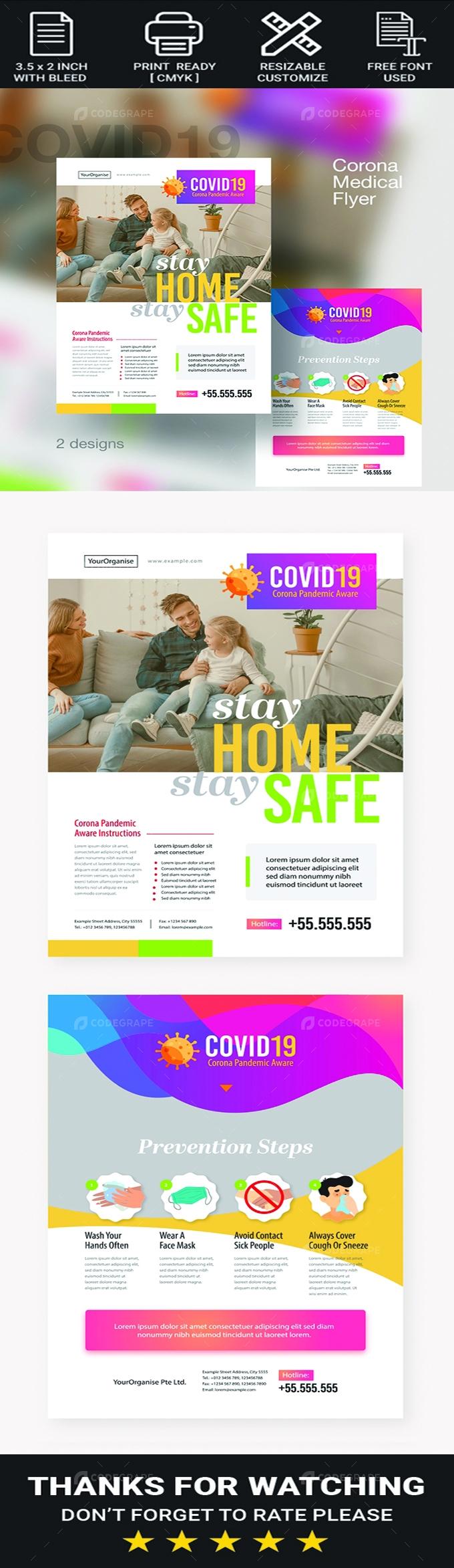 Covid19 Treatment Medical Flyer