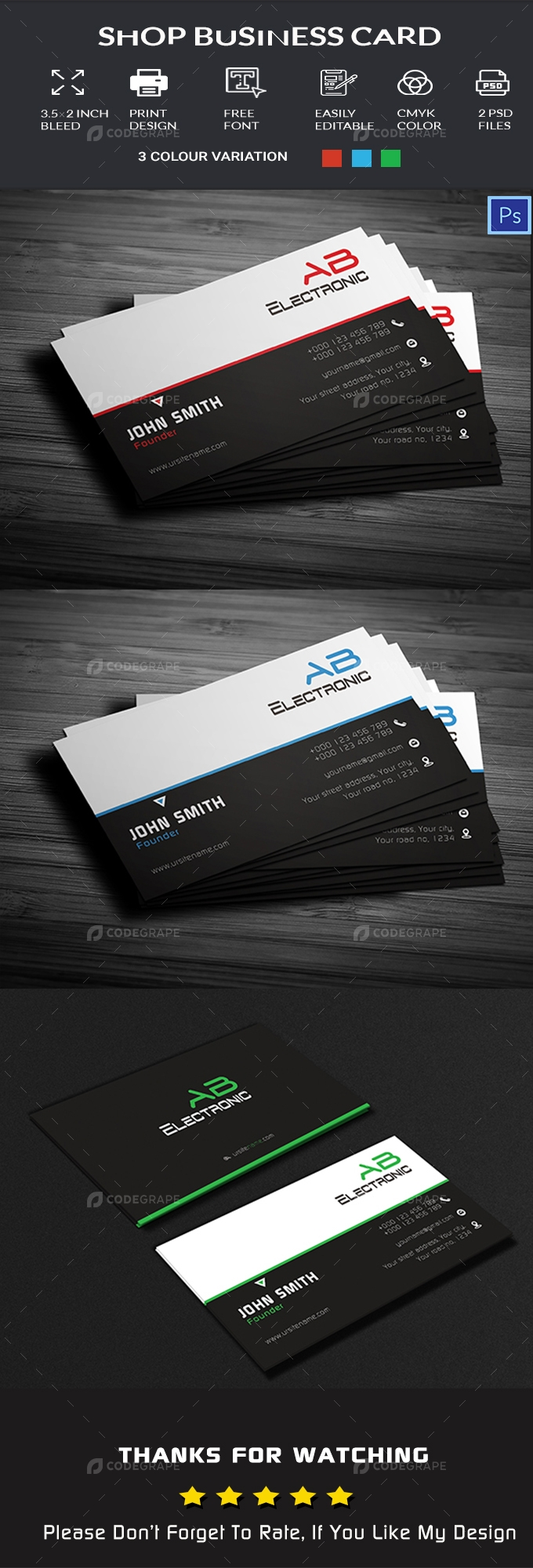 Electrical Shop Business Card