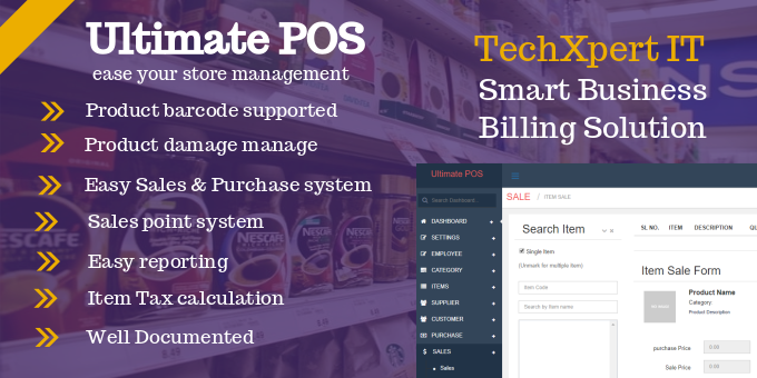 Ultimate POS - PHP Point of Sale Made Easy