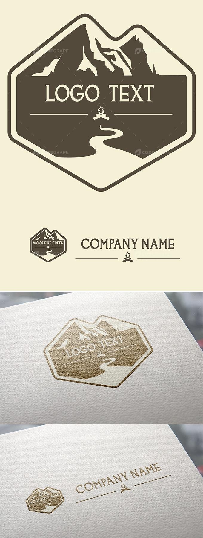 Mountain Outdoor Woodfire Logo