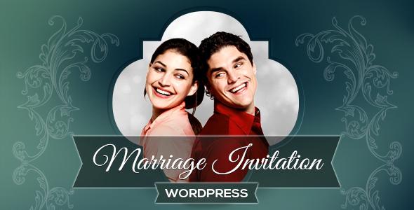 Marriage Invitation WordPress Theme