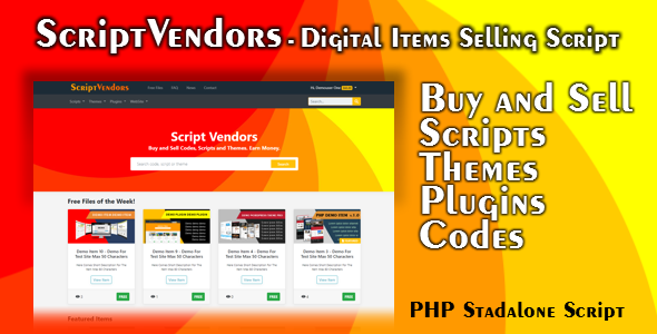 ScriptVendors - Digital Items Marketplace - PHP Script