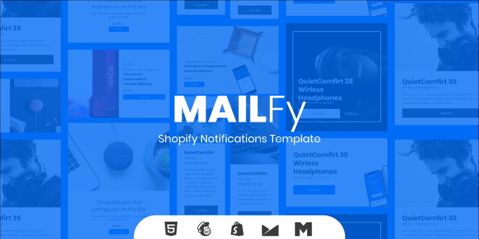 Mailfy - Shopify Notification Set