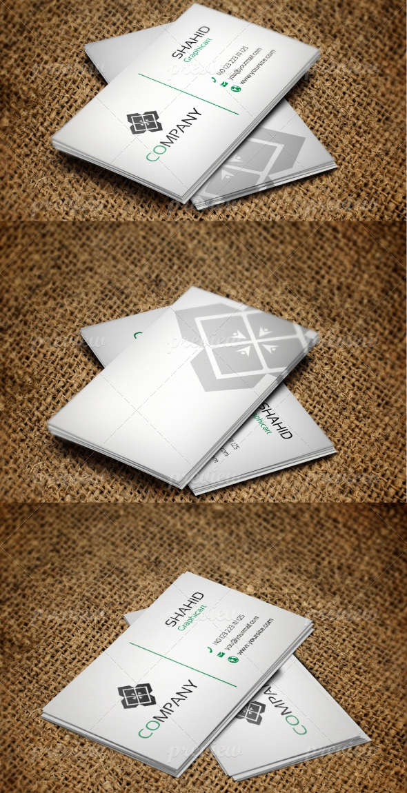 Jabbi V24 Simple White Business Card