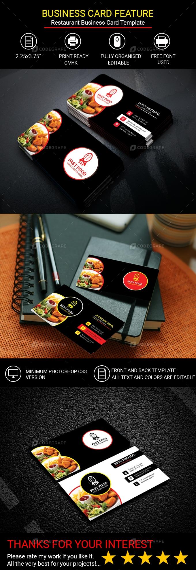 Restaurant Business Card