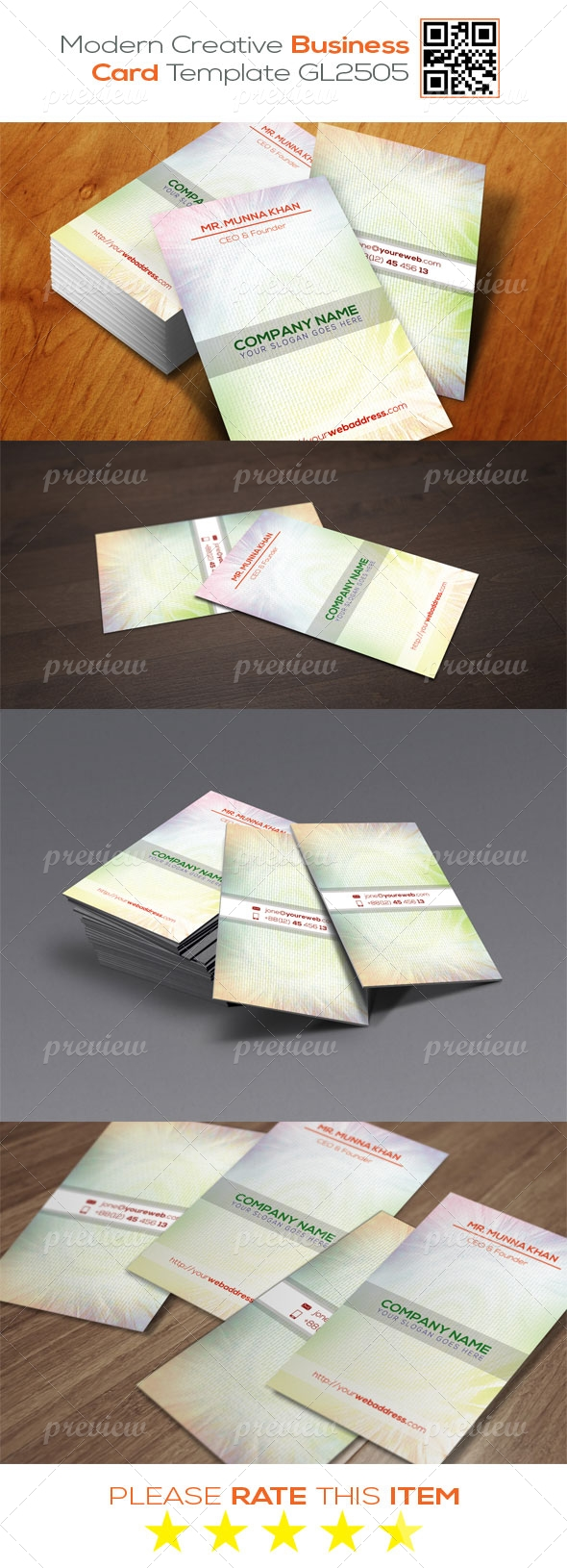 Modern Creative Business Card Template GL2505