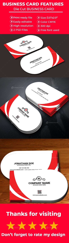 Die Cut Business Card