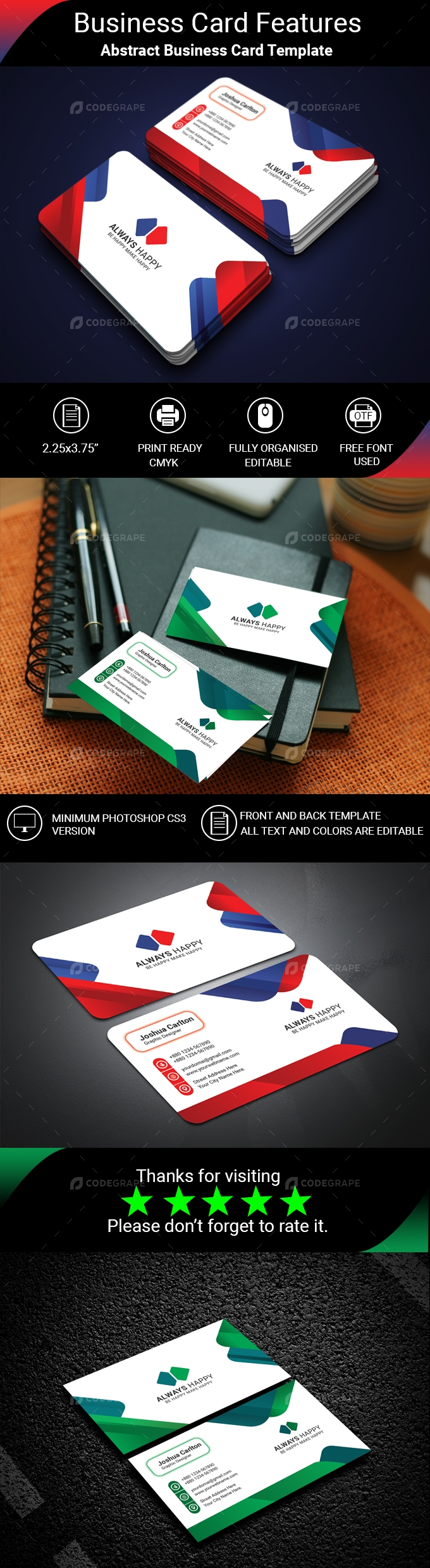 Abstract Business Card