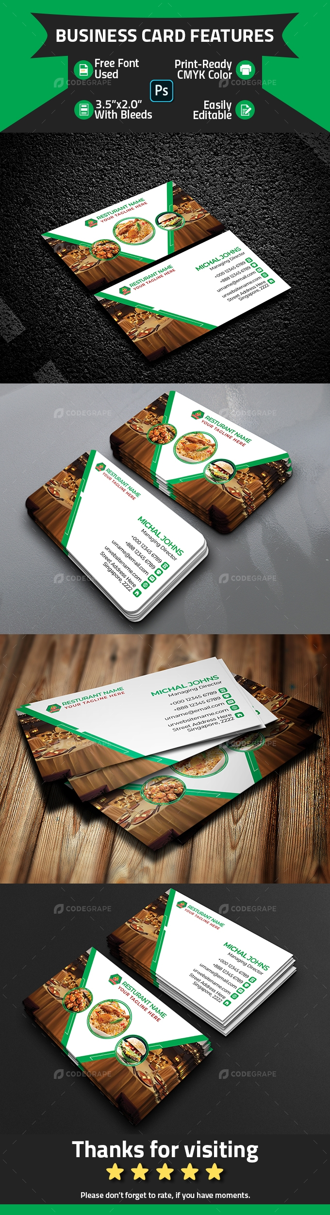 Resturant Business Card