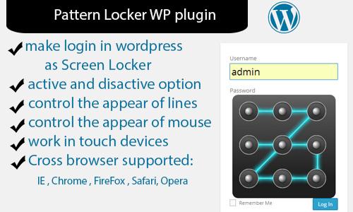 Pattern Locker WP Plugin