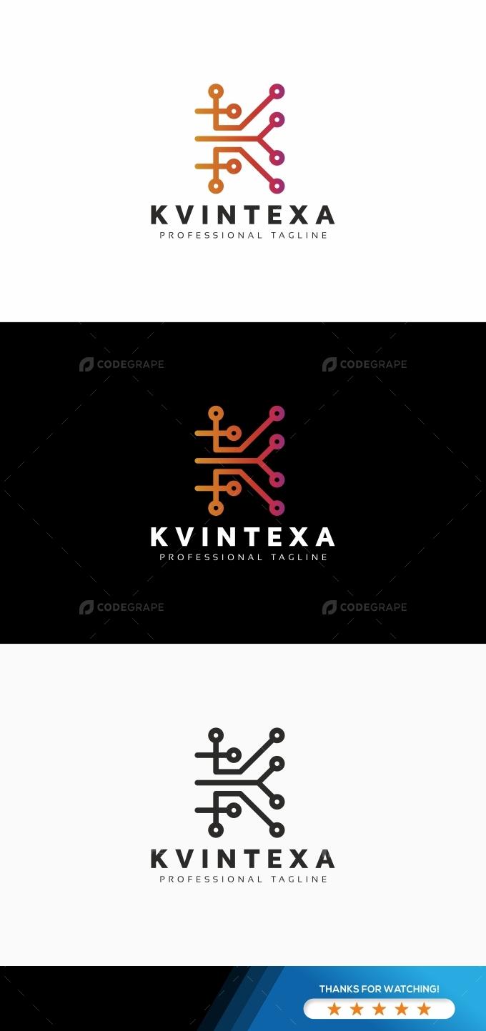 K Letter Tech Logo