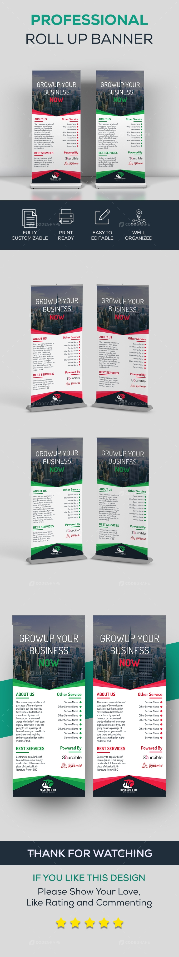 Professional Roll Up Banner Design
