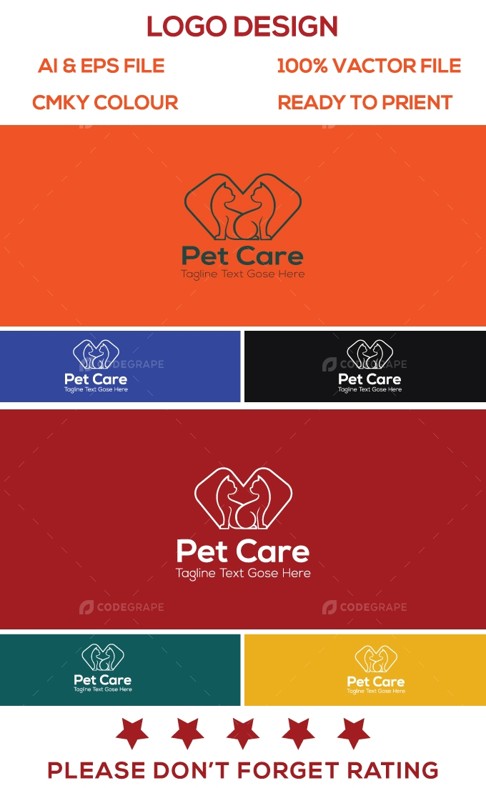 Pet Care Logo Design