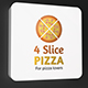 4 Slice Pizza Logo
