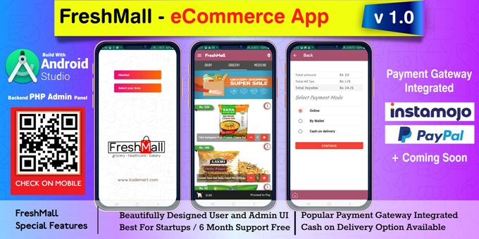 FreshMall - Android eCommerce App with Admin Panel
