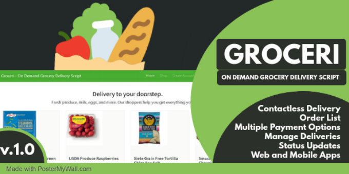 Groceri - On Demand Grocery Delivery Script