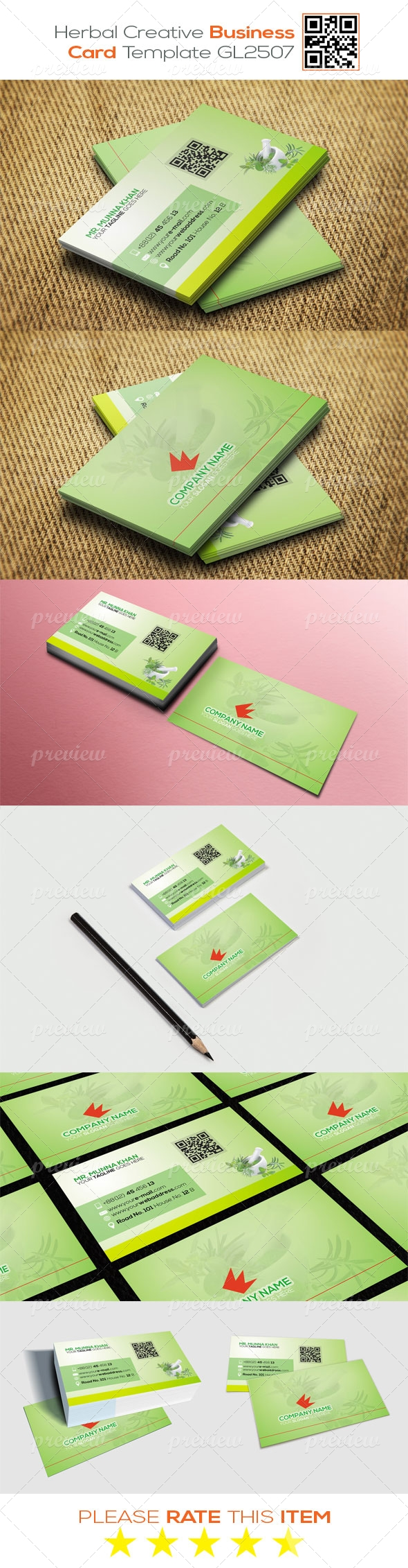 Herbal Creative Business Card Template GL2507