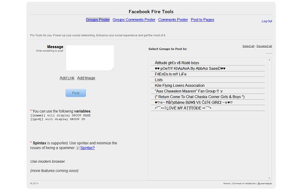Facebook Marketer - Facebook Fire Tools