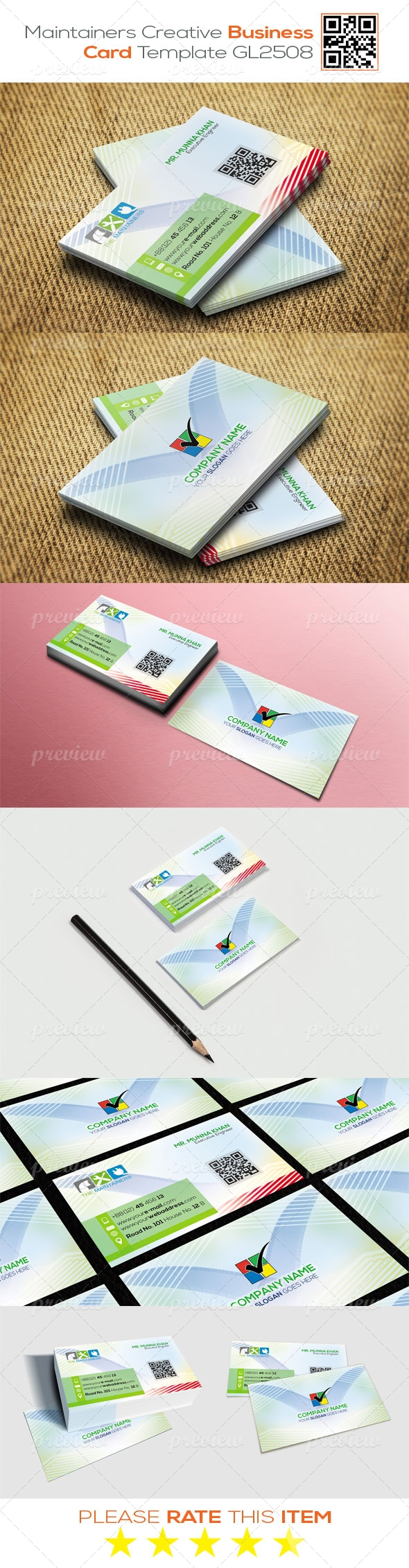 Maintainers Creative Business Card Template GL2508