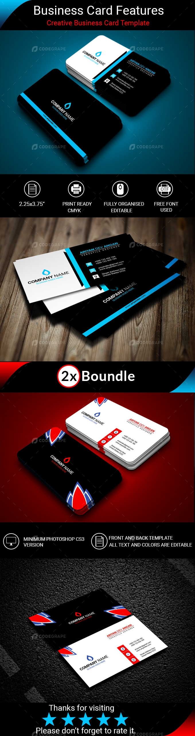 Creative Business Card (2 in 1)