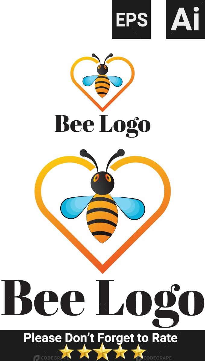Bee honey logo template