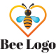 Bee honey logo template