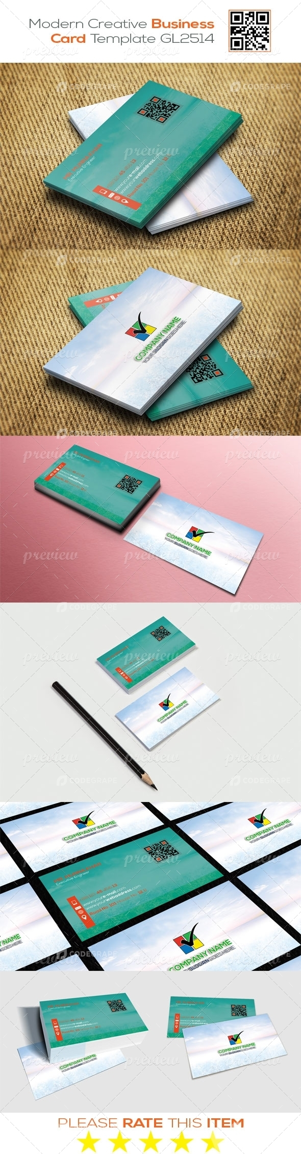 Modern Creative Business Card Template GL2514