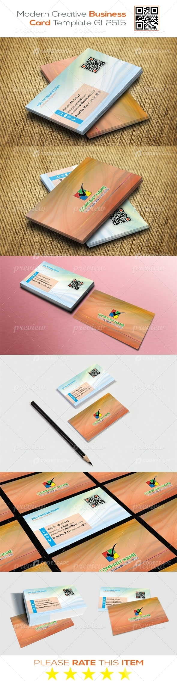 Modern Creative Business Card Template GL2515