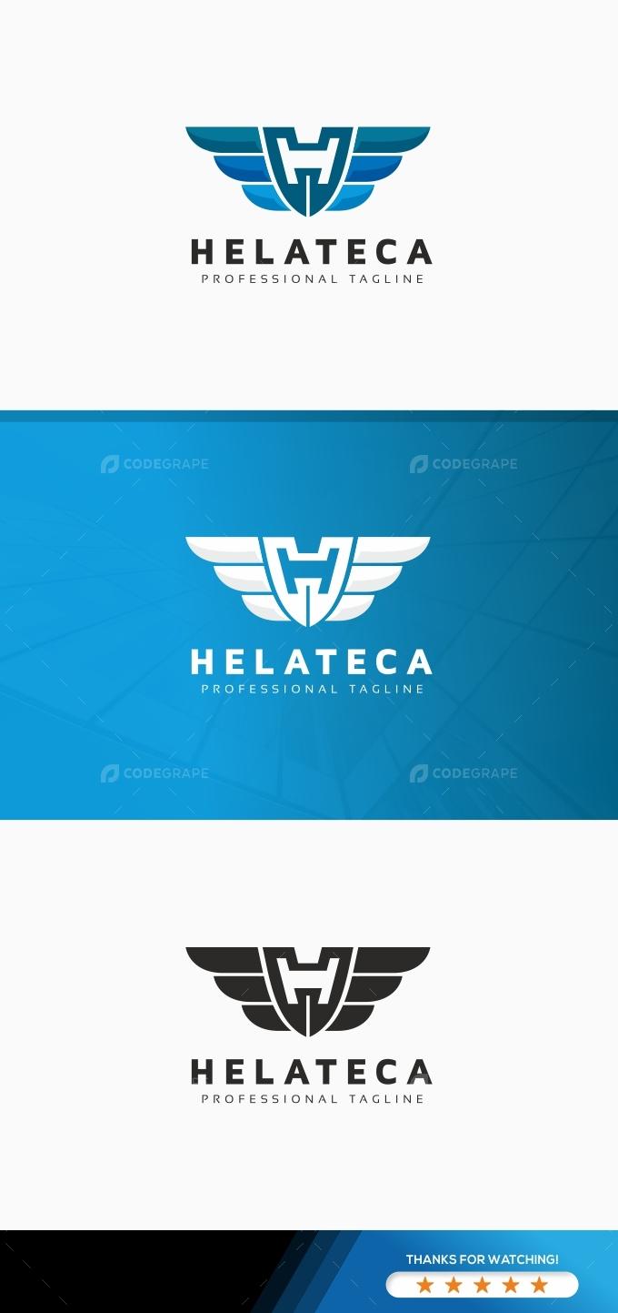 Helateca H Letter Logo
