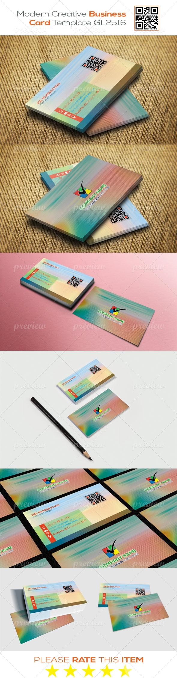 Modern Creative Business Card Template GL2516