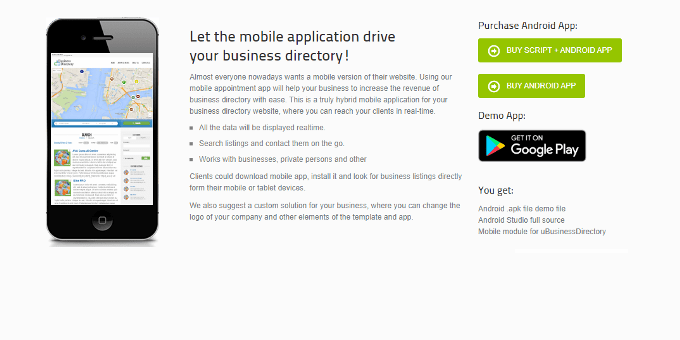 Business Directory Listing App For Android