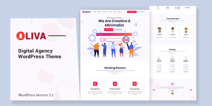 Oliva - Creative Agency WordPress Theme