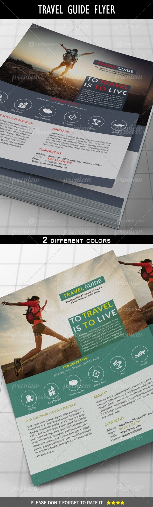 Travel Guide Flyer