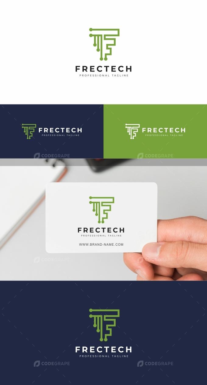 Frectech F Letter Logo