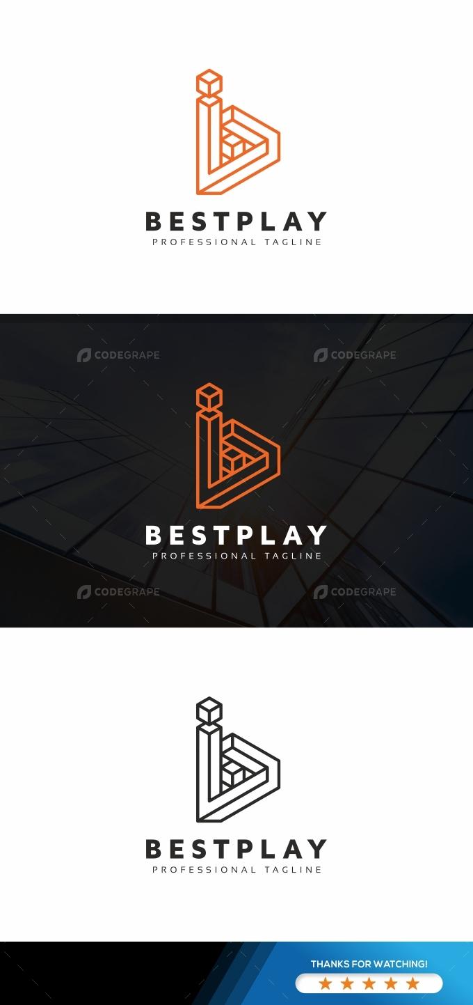 Bestplay B Letter Logo