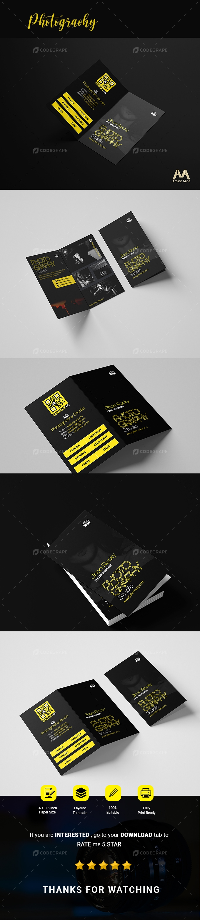 Professional Folded Business Card